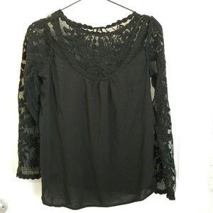Xhilaration black lace top